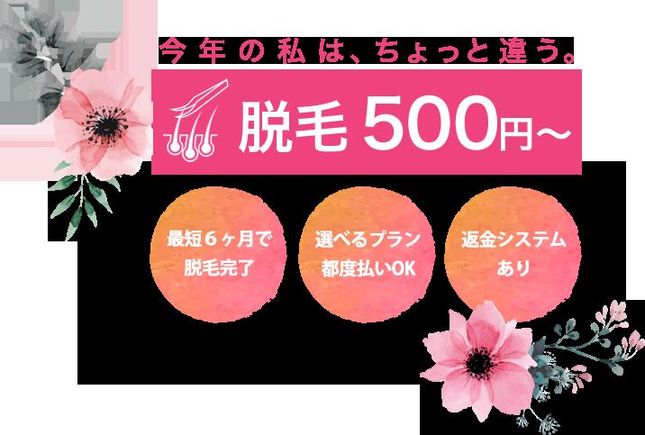 脱毛500円~